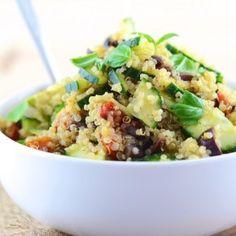 Greek Quinoa Salad (vegan)