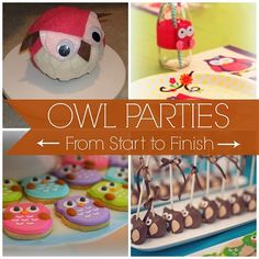 Bea-hoo-tiful Owl Parties from Start to Finish! #owl #party