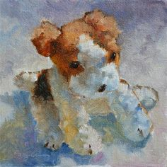 """Fluffy"" - Original Fine Art for Sale - © Carlene Dingman Atwater"