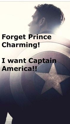 I want Captain America!!! Along with four or five other fictional characters…