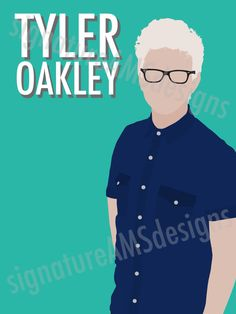 Minimalist Digital Artwork of YOUTUBER - Tyler Oakley. ( 11.7x16.5 inches / A3 ) by signatureAMSdesigns on Etsy