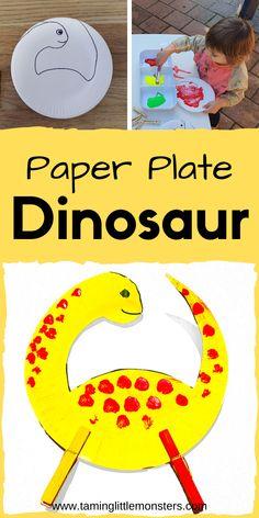 Dinosaur Crafts For Preschoolers, Dinosaur Theme Preschool, Art Activities For Toddlers, Dinosaur Activities, Preschool Lessons, Sensory Activities, Infant Activities, Toddler Class, Toddler Preschool