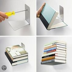 Zwevende boekenplank - Floating books