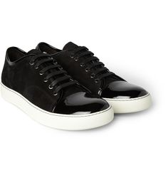LanvinSuede and Patent-Leather Sneakers|MR PORTER, perfect with a tux!