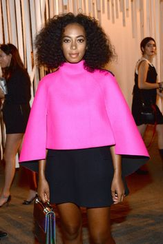 09/15/15-Solange Knowles attends the Milly By Michelle Smith Fashion Show during Spring 2016 New York Fashion Week at Art Beam