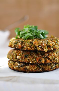 Herbed Cauliflower Carrot Falafels. Looks great, easy too! GF and vegan
