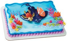 Finding Nemo Party Supplies: Nemo and Squirt Cake Topper Party Supplies Canada - Open A Party Finding Nemo Party Supplies, Finding Nemo Cake, Dory Cake, Cupcakes Online, School Cake, Cake Kit, Animal Cupcakes, Order Cake, Cake Supplies