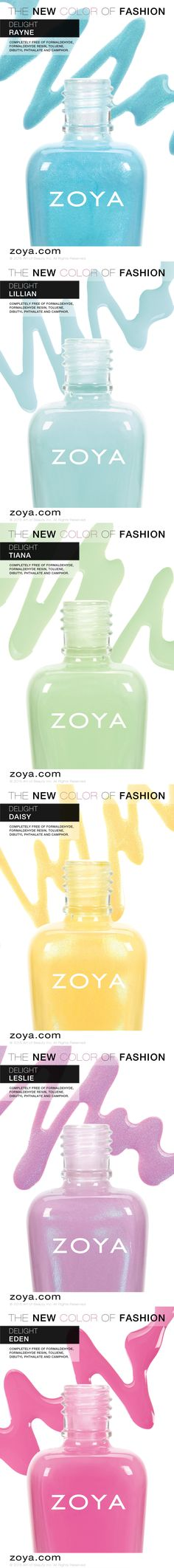 The Zoya Delight Collection - Spring 2015