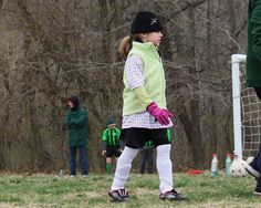 first day of soccer, spring 2011.  Spring???