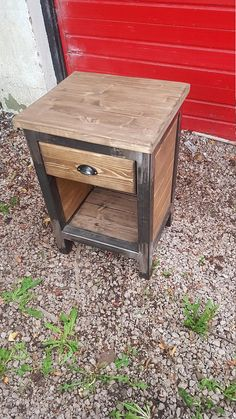 Industrial bedside tables set