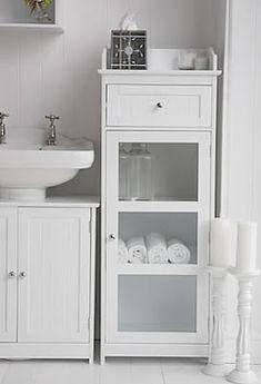 Bathroom Cabinet White Freestanding Storage Pedestal Sink