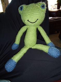 crochet frog for owen