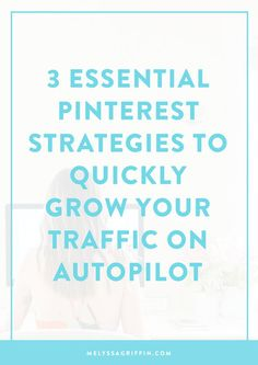Want to grow your traffic and audience on autopilot? With Pinterest, you can do exactly that! I've found Pinterest to be the MOST underutilized, yet most effective marketing strategy out there -- perfect for bloggers, entrepreneurs, course creators, and more. If you're not using Pinterest STRATEGICALLY, then you're stunting your growth. Click through to learn exactly how to get started using Pinterest like a pro (there's a free guide and workbook for you, too!).