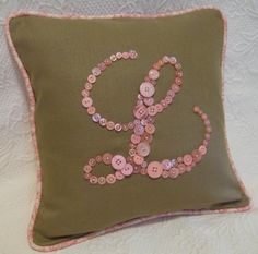Sweet Letter 'L' Pillow Monogrammed With by letterperfectdesigns