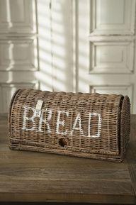 Rattan breadbox