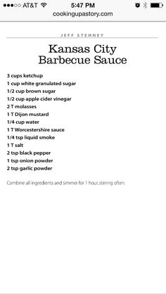 Oklahoma Joe's BBQ Sauce recipe. Some of the best I've ever tasted!
