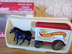 Days Gone Die Cast Genuine Budweiser wagon city delivery Made in England  #DaysGoneBy