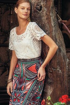 Cutwork Lace Tee - anthropologie.com #anthrofave