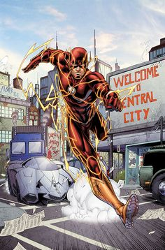 THE FLASH: FUTURES END #1 Cover art by Brett Booth and Norm Rapmund