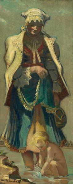 Martin Benka: Slovakian folk clothing Folk Clothing, Stage Design, Painting & Drawing, Statues, Illustrators, Graphic Art, Illustration Art, Tapestry, Wall Art
