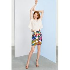 Mini skirt #peacock #datestyle