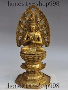 2019 15Chinese Buddhism Temple Brass Kwan Yin GuanYin Bodhisattva Buddha Statue From Lianglei0615, $441.21 | DHgate.Com