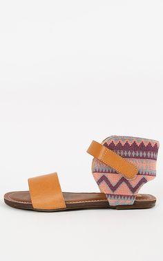 Feeling a little bit of an ethnic touch. Boho tribal cuff sandals.  | MakeMeChic.com