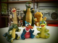 Land before time toys from pizza hut! Little Foot, Ducky, Sara, and Peatree! 90s Toys, Retro Toys, Vintage Toys, Toys Land, 80s Kids, Ol Days, My Childhood Memories, The Good Old Days, My Children