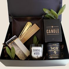 Relax at home box for him. Curated gift for him.