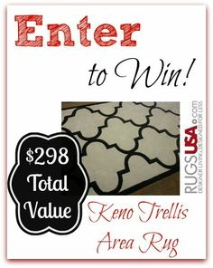 #Giveaway Win a 5' X 8' Keno Trellis Area Rug! $298 Total Value
