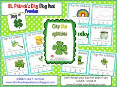 FREE clap the syllables center activity from KidsReadingActivi....