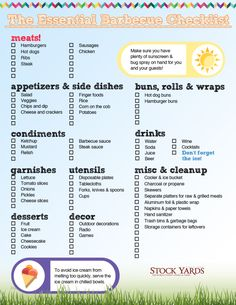 download our bbq checlist