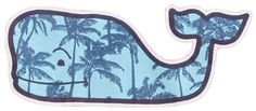 Vineyard Vines Palm Tree Whale (Blues)