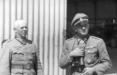 "Josef ""Sepp"" Dietrich (on right), commander Leibstandarte SS Adolf Hitler, Greece April 1941."