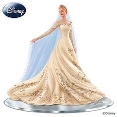 Disney Cinderella The Wedding Gown Hand-Painted Figurine Disney Princess Cinderella, Disney Princess Dresses, Cinderella Wedding, Disney Dresses, Cinderella 2015, 1950 Wedding Dress, Movie Wedding Dresses, Wedding Movies, Wedding Gowns