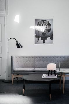 The  Mayor Sofa in soft grey