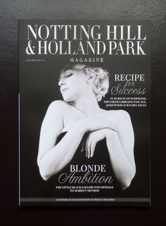 MARILYN MONROE COVER HOLLAND PARK & NOTTING HILL MAGAZINE JANUARY 2016 PAOLOZZI