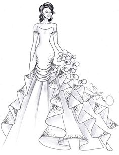 "Brides.com: Designer Fantasy Sketches: Kim Kardashian's Wedding Gown Ines Di SantoInes Di Santo designed two dresses in one: ""The gown features a detachable train that can be removed after the ceremony, with a short, sexy mini for the reception,"" she says. The Italian silk satin organza gown also includes cut-out details and Swarovski crystals of diverse sizes embroidered throughout the bodice.  See more Ines Di Santo wedding dresses in our gallery"