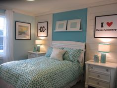 Stonewell KB Home in Waldorf Aqua and Teal girl's room