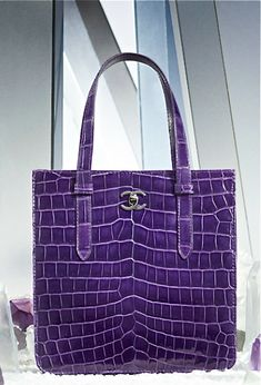 Purple Chanel bag...