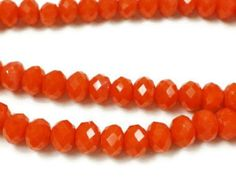 100 6mm Orange faceted glass beads, Spacer Bead, r41 by vickysjewelrysupply. Explore more products on http://vickysjewelrysupply.etsy.com