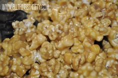 My favorite caramel popcorn. From All Things Thrifty.