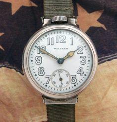 Men's 1914 Wire Lug Waltham Trench Watch | Strickland Vintage Watches