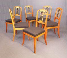 Sechs Biedermeier-Stühle, Sachsen   Johannes Kössler : Hochwertige antike Möbel und Möbelrestaurierung, weitere Bilder unter: www.jkoessler.de