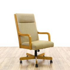 Solid Wood Rolling Desk Chair httpvidiovinfo Pinterest