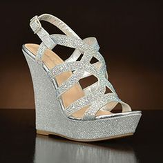 Nonie by Lauren Lorraine. Choose from the largest selection of wedding shoes from top designers at My Glass Slipper. In-stock styles ship same day. Gold Bridal Shoes, Bridal Wedges, Red Wedding Shoes, Wedding Heels, Homecoming Shoes, Sparkle Shoes, Bridesmaid Shoes, Shoe Show, Glass Slipper