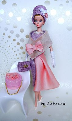 """Lilac and Peach"" for Silkstone Barbie by Rebecca"