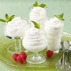 White Chocolate Mousse. For an easy holiday dessert, make a short-cut sugar-free mousse with only 3 ingredients. To dress it up, serve in stemmed compote glasses and garnish with fresh berries and mint springs.