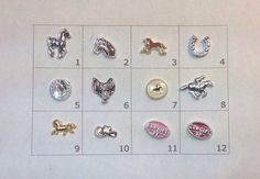 HORSES floating charm pick one by JMLReflections on Etsy