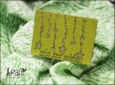 Handmade miniature krafti card.
